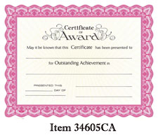 Goes #34605CA Certificate of Award
