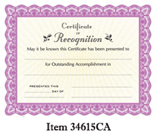 Goes #34615CA Certificate of Recognition