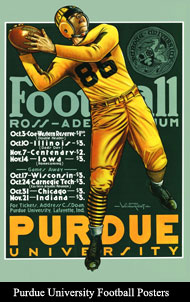 Purdue University Football Posters