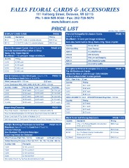 Falls Enterprises Price List