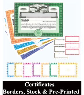 Goes Lithographing Certificates